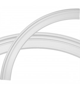 """EM-CR70BE - 71 3/8""""OD x 61 3/8""""ID x 5""""W x 1 5/8""""P Bedford Ceiling Ring (1/4 of complete circle)"""