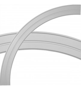 """EM-CR78MI - 84 3/4""""OD x 74 1/4""""ID x 5 1/4""""W x 1""""P Milton Ceiling Ring (1/4 of complete circle)"""