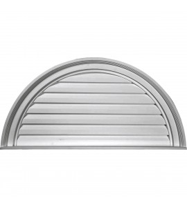 "EM-GVHR60F - 60""W x 30""H x 2 1/2""P, Half Round Gable Vent Louver, Functional"
