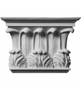 "EM-CAP11X08X03TW - 10 3/4""W x 7 5/8""H x 2 3/4""P Temple of Winds Capital (Fits Pilasters up to 7 3/8""W x 1 1/8""D)"