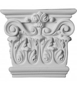 "EM-CAP06X05X02RC - 5 3/4""W x 5 1/8""H x 1 3/4""P Corinthian Capital (Fits Pilasters up to 4""W x 1""D)"