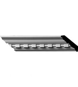 "EM-MLD02X02X02DE - 2""H x 2""P x 2 7/8""F x 96""L, (1 1/4"" Repeat) Dentil Crown Moulding"