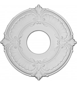 "EM-CM12AT - 12 3/4""OD x 3 1/2""ID x 1/2""P Attica Ceiling Medallion (Fits Canopies up to 3 1/2"")"
