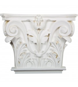 "EM-CAP14X16X04AC - 16 1/2""W x 13 5/8""H x 3 3/4""P Acanthus Leaf Onlay Capital (Fits Pilasters up to 10 5/8""W x 7/8""D)"