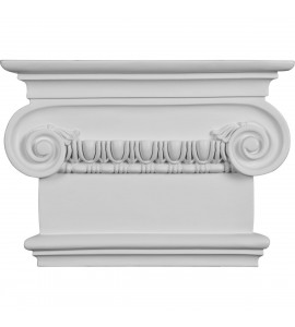 "EM-CAP09X07X03RI - 7 1/2""W x 8 1/2""H x 2 1/2""P Classic Ionic Large Onlay Capital (Fits Pilasters up to 5 1/4""W x 1 1/8""D)"