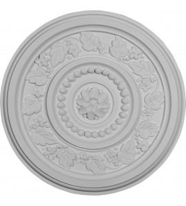 """EM-CM16MA - 16 1/8""""OD x 5/8""""P Marseille Ceiling Medallion (Fits Canopies up to 4 1/4"""")"""