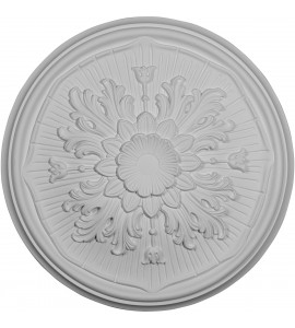 """EM-CM16LU - 15 3/4""""OD x 5/8""""P Luton Ceiling Medallion (Fits Canopies up to 1 1/8"""")"""