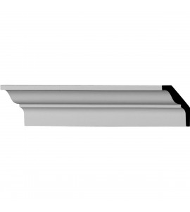 "EM-MLD02X02X03RO - 2 3/8""H x 1 5/8""P x 2 7/8""F x 96 1/8""L Robin Smooth Crown Moulding"