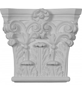 "EM-CAP07X06X02RC - 7""W x 6 3/8""H x 1 3/4""P Corinthian Pilaster Capital (Fits Pilasters up to 4 3/8""W x 7/8""D)"