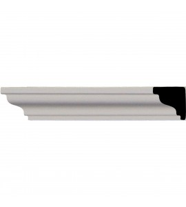 "EM-MLD02X01X01HI - 3/4""H x 3/4""P x 96 1/8""L, (1"" Repeat), Hillsborough Traditional Smooth Crown Moulding"