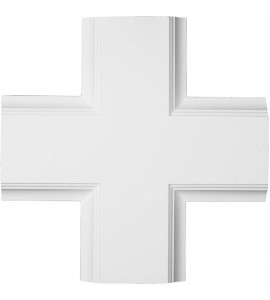 "EM-CC08ICI02X20X20TR - 20""W x 2""P x 20""L Inner Cross Intersection for 8"" Traditional Coffered Ceiling System"