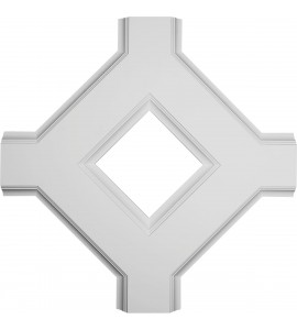 """EM-CC08IDI02X36X36TR - 36""""W x 2""""P x 36""""L Inner Diamond Intersection for 8"""" Traditional Coffered Ceiling System"""