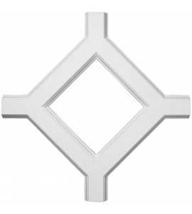 """EM-CC05IDI02X36X36TR - 36""""W x 2""""P x 36""""L Inner Diamond Intersection for 5"""" Traditional Coffered Ceiling System"""