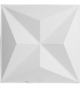 "EM-WP12X12KEWH - 11 7/8""W x 11 7/8""H Kent EnduraWall Decorative 3D Wall Panel, White"