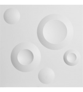"EM-WP12X12COWH - 11 7/8""W x 11 7/8""H Cole EnduraWall Decorative 3D Wall Panel, White"