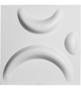 "EM-WP12X12SEWH - 11 7/8""W x 11 7/8""H Seville EnduraWall Decorative 3D Wall Panel, White"