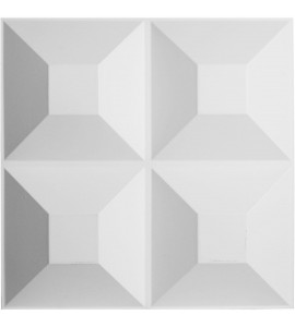 "EM-WP20X20FOWH - 19 5/8""W x 19 5/8""H Foster EnduraWall Decorative 3D Wall Panel, White"