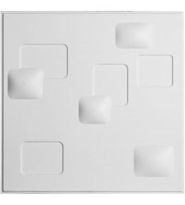 "EM-WP20X20AVWH - 19 5/8""W x 19 5/8""H Avila EnduraWall Decorative 3D Wall Panel, White"