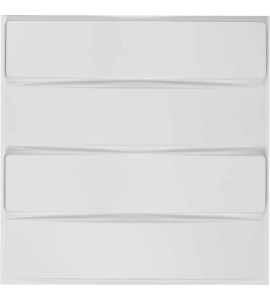 "EM-WP20X20CAWH - 19 5/8""W x 19 5/8""H Caputo EnduraWall Decorative 3D Wall Panel, White"