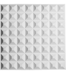 "EM-WP20X20BRWH - 19 5/8""W x 19 5/8""H Bradford EnduraWall Decorative 3D Wall Panel, White"