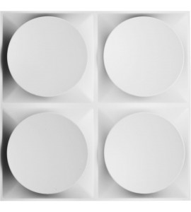 "EM-WP20X20ADWH - 19 5/8""W x 19 5/8""H Adonis EnduraWall Decorative 3D Wall Panel, White"