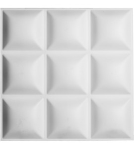 "EM-WP20X20CLWH - 19 5/8""W x 19 5/8""H Classic EnduraWall Decorative 3D Wall Panel, White"