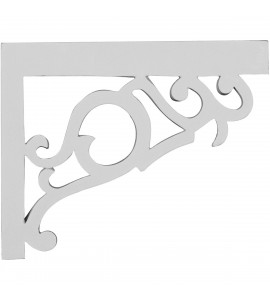 "EM-SB09X07VI-R - 8 3/4""W x 7 1/8""H x 3/4""D Victorian Stair Brackets, Right"