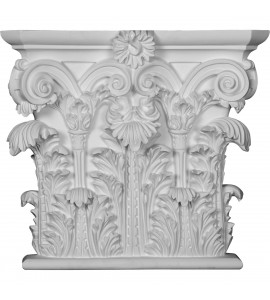 "EM-CAP18X16X04RC - 18 1/2""W x 16 1/2""H x 4 3/4""P Corinthian Capital (Fits Pilasters up to 15 1/8""W x 2 3/4""D)"