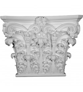 "EM-CAP23X20X05RC - 23 1/4""W x 20 7/8""H x 5 7/8""P Corinthian Capital (Fits Pilasters up to 18 5/8""W x 2 1/2""D)"