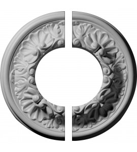 "EM-CM07OD2-03500 - 7 1/2""OD x 3 1/2""ID x 1 1/8""P Odessa Ceiling Medallion, Two Piece (Fits Canopies up to 3 1/2"")"