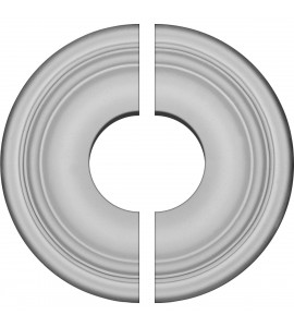 "EM-CM09MA2-03500 - 9 5/8""OD x 3 1/2""ID x 1 1/8""P Maria Ceiling Medallion, Two Piece (Fits Canopies up to 3 1/2"")"
