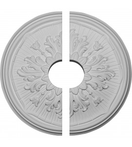 """EM-CM16LU2-03500 - 15 3/4""""OD x 3 1/2""""ID x 5/8""""P Luton Ceiling Medallion, Two Piece (Fits Canopies up to 3 1/2"""")"""