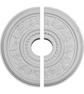 """EM-CM16MA2-03500 - 16 1/8""""OD x 3 1/2""""ID x 5/8""""P Marseille Ceiling Medallion, Two Piece (Fits Canopies up to 4 1/4"""")"""