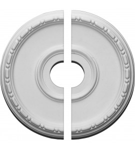"""EM-CM16MD2-03500 - 16 1/2""""OD x 3 1/2""""ID x 1 1/2""""P Medea Ceiling Medallion, Two Piece (Fits Canopies up to 5 1/2"""")"""