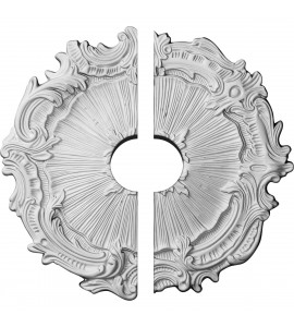 """EM-CM16PL2-03500 - 16 3/4""""OD x 3 1/2""""ID x 1 3/8""""P Plymouth Ceiling Medallion, Two Piece (Fits Canopies up to 3 1/2"""")"""