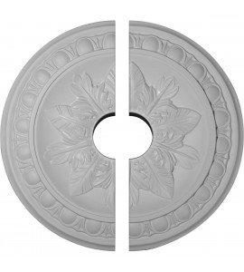 """EM-CM17EX2-03500 - 17 3/4""""OD x 3 1/2""""ID x 1 1/8""""P Exeter Ceiling Medallion, Two Piece (Fits Canopies up to 3 1/2"""")"""