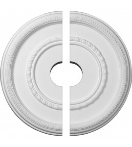 """EM-CM17FE2-03500 - 17 3/8""""OD x 3 1/2""""ID x 1 1/8""""P Federal Roped Large Ceiling Medallion, Two Piece (Fits Canopies up to 7 3/4"""")"""