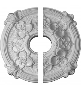 """EM-CM17HA2-03500 - 17 3/8""""OD x 3 1/2""""ID x 1 3/4""""P Hamilton Ceiling Medallion, Two Piece (Fits Canopies up to 3 3/4"""")"""
