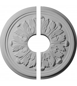 """EM-CM17LE2-03500 - 17 7/8""""OD x 3 1/2""""ID x 1 1/8""""P Large Legacy Acanthus Ceiling Medallion, Two Piece (Fits Canopies up to 4 1/4"""")"""