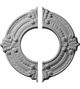 "EM-CM09BN2 - 9""OD x 4 1/8""ID x 5/8""P Benson Ceiling Medallion, Two Piece (Fits Canopies up to 4 1/8"")"