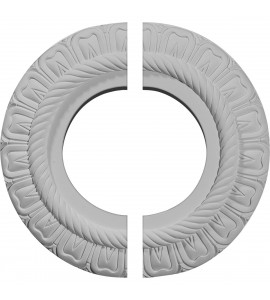 "EM-CM09CL2 - 9""OD x 4 1/2""ID x 1/2""P Claremont Ceiling Medallion, Two Piece (Fits Canopies up to 5 5/8"")"