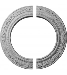 "EM-CM12AD2 - 12""OD x 8""ID x 1/2""P Andrea Ceiling Medallion, Two Piece (Fits Canopies up to 8"")"