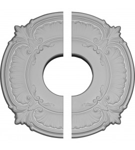 "EM-CM12AT2 - 12 3/4""OD x 3 1/2""ID x 1/2""P Attica Ceiling Medallion, Two Piece (Fits Canopies up to 3 1/2"")"