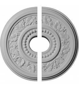 """EM-CM16GN2 - 16 1/8""""OD x 3 1/2""""ID x 7/8""""P Genevieve Ceiling Medallion, Two Piece (Fits Canopies up to 3 1/2"""")"""