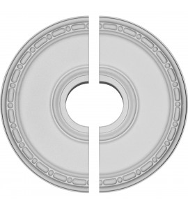 """EM-CM16ME2 - 16 1/2""""OD x 3 7/8""""ID x 1 1/2""""P Medea Ceiling Medallion, Two Piece (Fits Canopies up to 5 3/8"""")"""