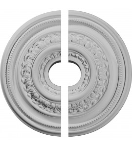 """EM-CM17OL2 - 17 5/8""""OD X 3 5/8""""ID X 1 7/8""""P Orleans Ceiling Medallion, Two Piece (Fits Canopies up to 4 5/8"""")"""