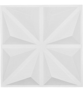 "EM-WP20X20BIWH - 19 5/8""W x 19 5/8""H Bailey EnduraWall Decorative 3D Wall Panel, White"