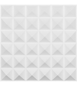 "EM-WP20X20DAWH - 19 5/8""W x 19 5/8""H Damon EnduraWall Decorative 3D Wall Panel, White"