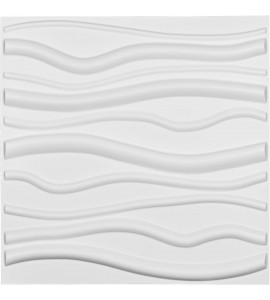 "EM-WP20X20JAWH - 19 5/8""W x 19 5/8""H Jackson EnduraWall Decorative 3D Wall Panel, White"