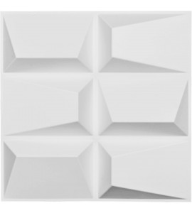 "EM-WP20X20STWH - 19 5/8""W x 19 5/8""H Stratford EnduraWall Decorative 3D Wall Panel, White"